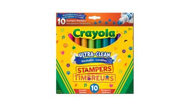 Crayola Washable Stamper Markers, 10ct
