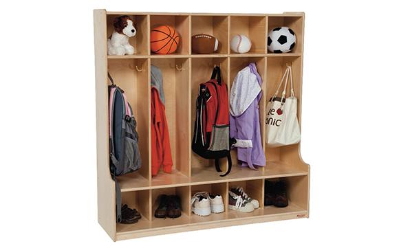 vestiaire pour 10 enfants avec banc brault bouthillier. Black Bedroom Furniture Sets. Home Design Ideas