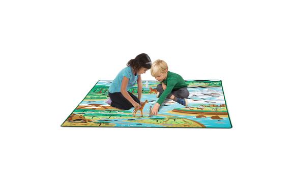 tapis de jeu habitat animaux - Tapis Habitat