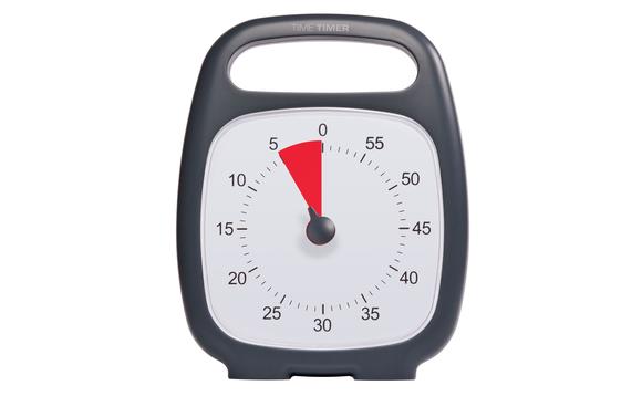 Minuteur time timer plus noir 60 minutes brault - Minuteur 10 minutes ...