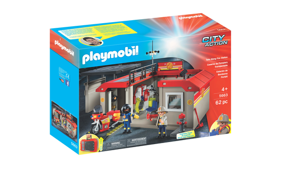 playmobil caserne de pompiers transportable brault bouthillier. Black Bedroom Furniture Sets. Home Design Ideas