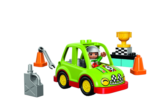 lego duplo town la voiture de rallye brault bouthillier. Black Bedroom Furniture Sets. Home Design Ideas