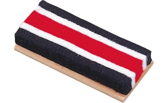 Brosse tableau en feutre bleu blanc rouge brault bouthillier - Brosse a dent bleu blanc rouge ...